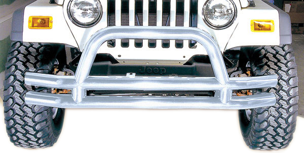 Jeep Wrangler CJ & Unlimited Stainless Steel Front Tube Bumper 1976-2006