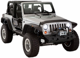 Jeep Wrangler JK 2-Door Bushwacker Flat Style Fender Flare Kit (2007-2013)