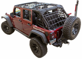 Jeep Wrangler JK Black Cargo Net Kit (2007-2017)