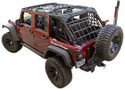 Jeep Wrangler JK Black Cargo Net Kit (2007-2014)