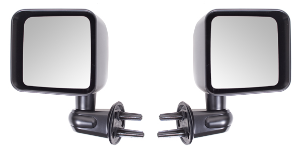 Click here for Jeep Wrangler JK Black Folding Side Mirrors- Pair... prices