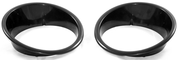 Jeep Wrangler JK Black Headlight Bezel-Pair 2007-2014