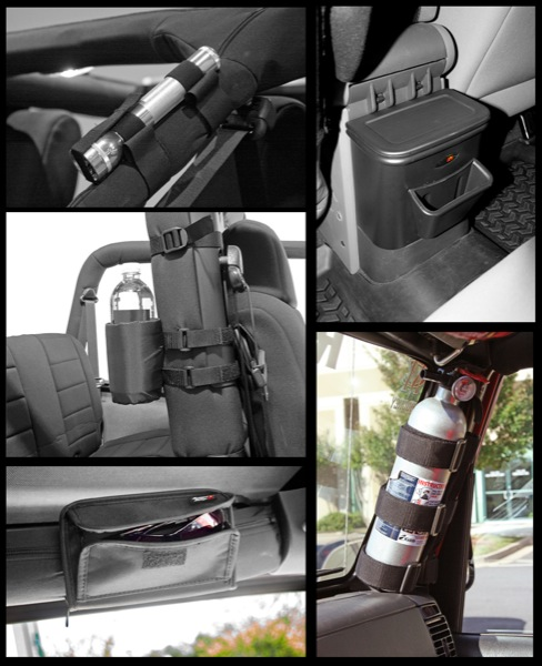 Jeep Wrangler JK Black Interior Storage Kit 2007-2011