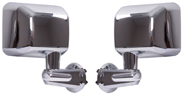 Click here for Jeep Wrangler JK Chrome Folding Side Mirrors-Pair... prices