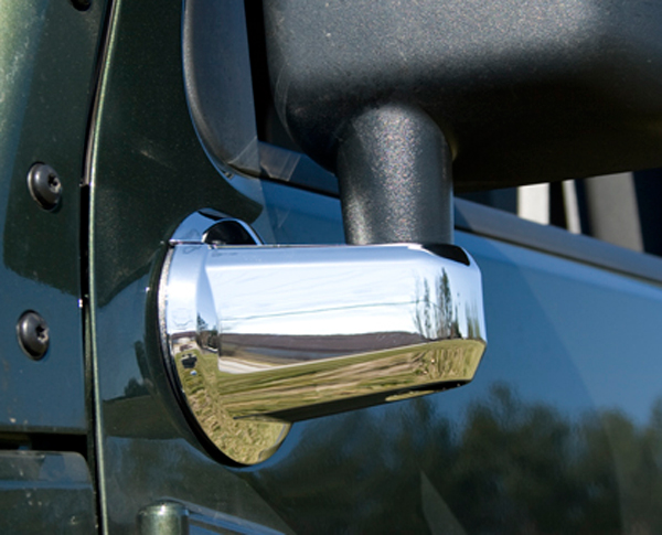 Jeep Wrangler JK Chrome Mirror Arm Covers-Pair 2007-2013