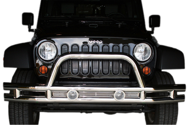 Jeep Wrangler JK Stainless Steel Front Tube Bumper With Grill Guard 2007-2014
