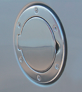 Jeep Wrangler Polished Aluminum Billet Style Gas Cover 1997-2006
