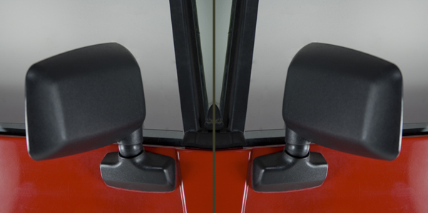 Jeep Wrangler YJ Black Side Mirrors Pair