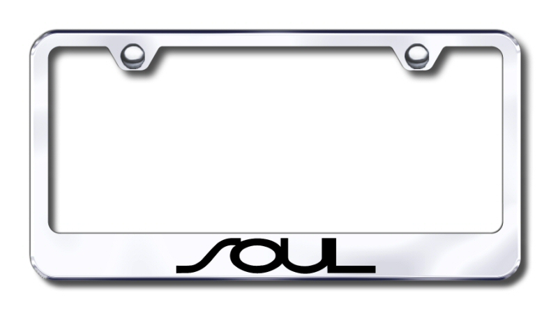 Kia Soul Laser Etched Stainless Steel License Plate Frame