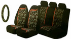 Kraco 4 Pc Camouflage Seat Cover & Steering Wheel Cover Kit