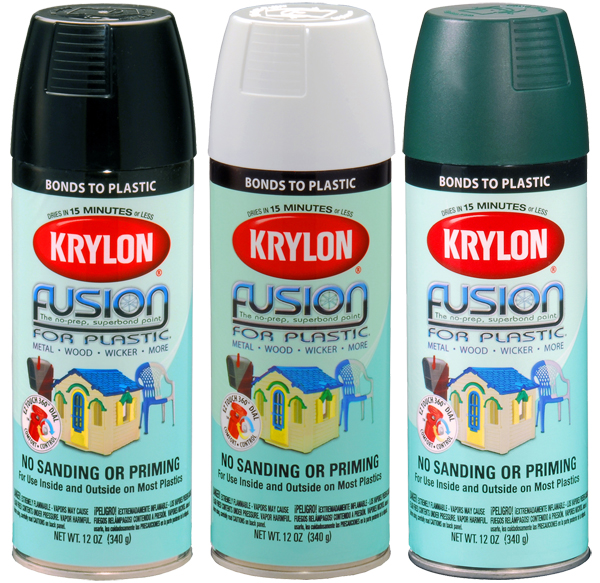 krylon fusion spray paint for plastic 12 oz kry2xxx. Black Bedroom Furniture Sets. Home Design Ideas