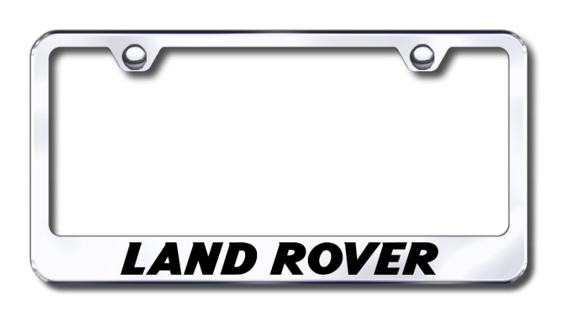 Land Rover Laser Etched Stainless Steel License Plate Frame
