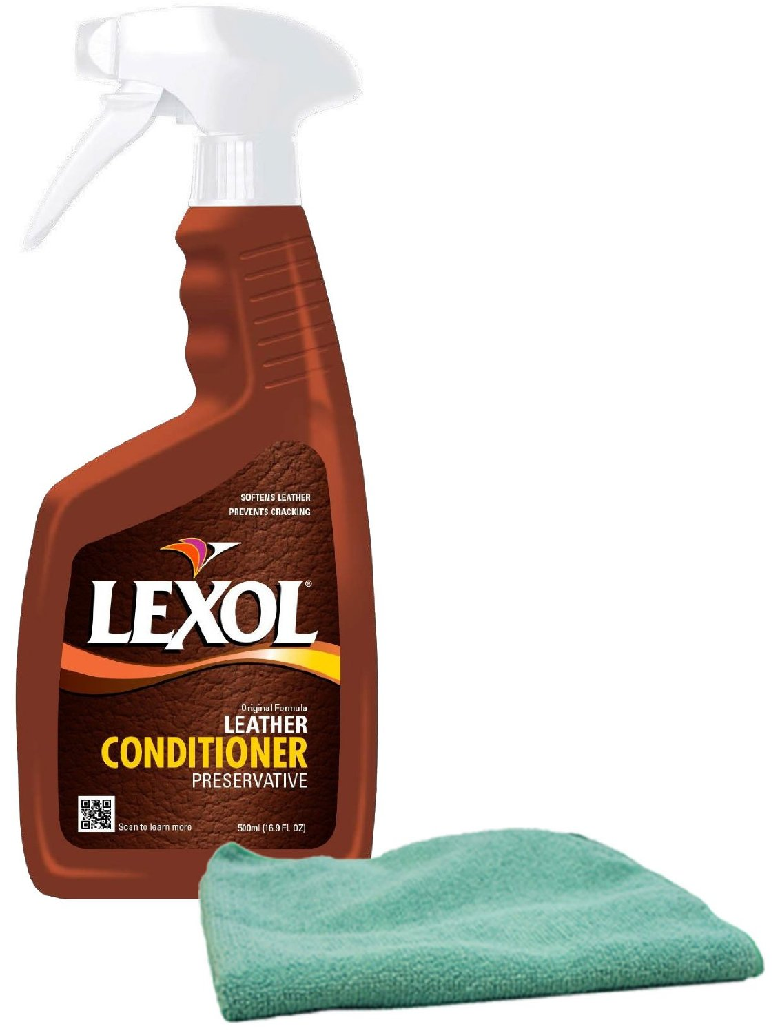 Lexol Leather Conditioner Spray 16.9 oz. & Microfiber Cloth Kit
