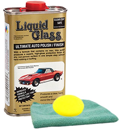 Liquid Glass Ultimate Auto Polish 8 oz. Microfiber Cloth & Foam Pad Kit
