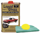 Liquid Glass Ultimate Auto Polish & Finish (16 oz), Microfiber Cloth & Foam Pad Kit