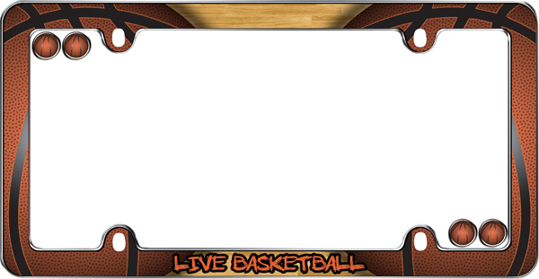 Live Basketball License Plate Frame Kit