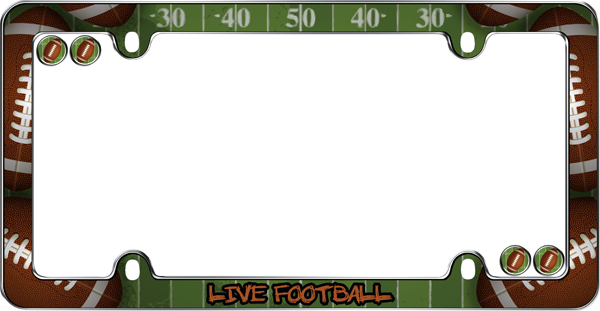 live football license plate frame kit