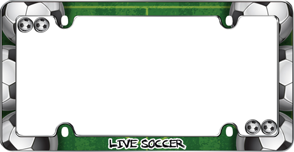 Live Soccer License Plate Frame Kit