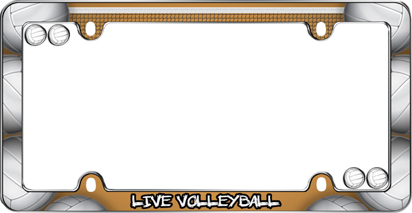 Live Volleyball License Plate Frame Kit