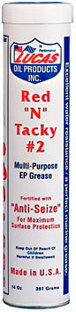 "Lucas Red ""N"" Tacky Multi-Purpose EP Grease 14 oz."