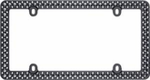 Matte Black/Chrome Defender License Plate Frame