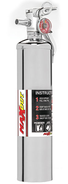 MaxOut MX250C Chrome Dry Chemical Fire Extinguisher