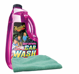 Meguiar's Deep Crystal Car Wash (64 oz.), Microfiber Cloth Kit