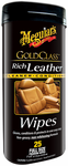 Meguiars Gold Class Rich Leather Wipes (25 ct.)