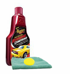 Meguiars Clear Coat Safe Rubbing Compound (16 oz.), Foam Pad & Microfiber Cloth Kit