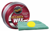 Meguiars Paste Cleaner Wax (14 oz.), Foam Pad & Microfiber Cloth Kit