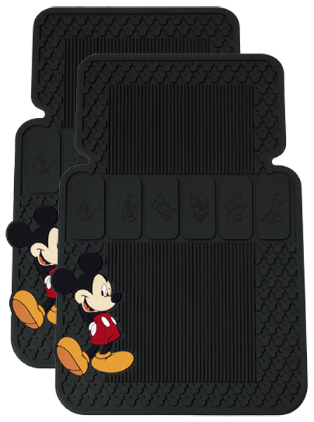 Mickey Mouse & Friends Rubber Floor Mats Pair