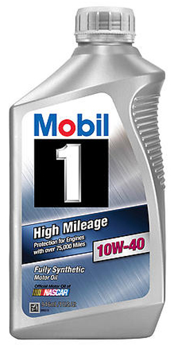 Mobil 1 Synthetic High Mileage 10W40 Motor Oil