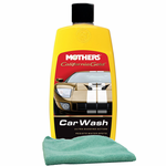 Mothers California Gold Car Wash (16 oz.) & Microfiber Cloth Kit
