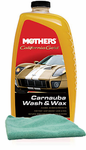Mothers California Gold® Carnauba Wash & Wax (64 oz), Microfiber Cloth Kit