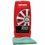 Mothers California Gold Metal Polish (12 oz.) & Microfiber Cloth Kit