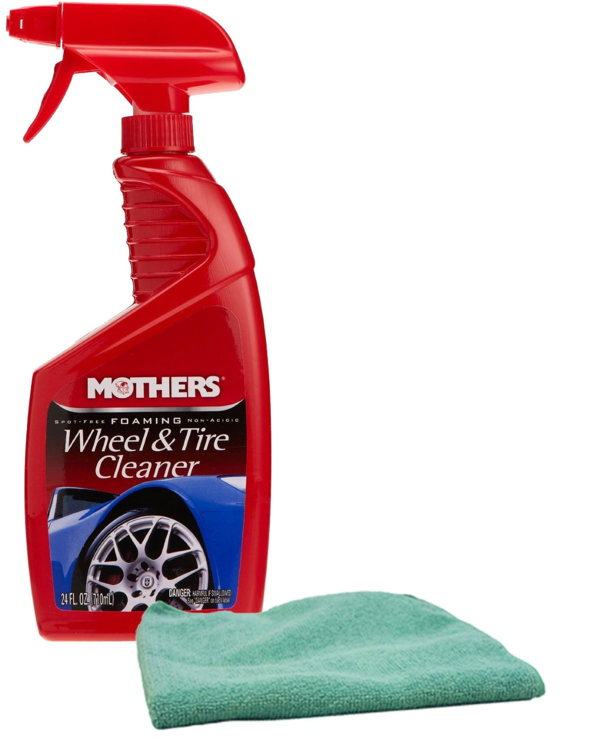 Mothers Foaming Wheel & Tire Cleaner & Microfiber Cloth Kit