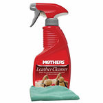 Mothers Leather Cleaner Spray & Microfiber Cloth Kit