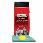 Mothers Leather Conditioner, Microfiber Cloth & Foam Pad Kit