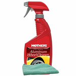 Mothers Polished Aluminum Wheel Cleaner (24 oz.), Microfiber Cloth Kit