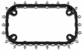 Motorcycle License Plate Frames and Shields