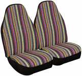 Multi-Color Praire Strip Seat Covers (Pair)