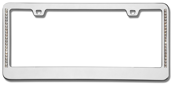 NEO Diamondesque Chrome License Plate Frame