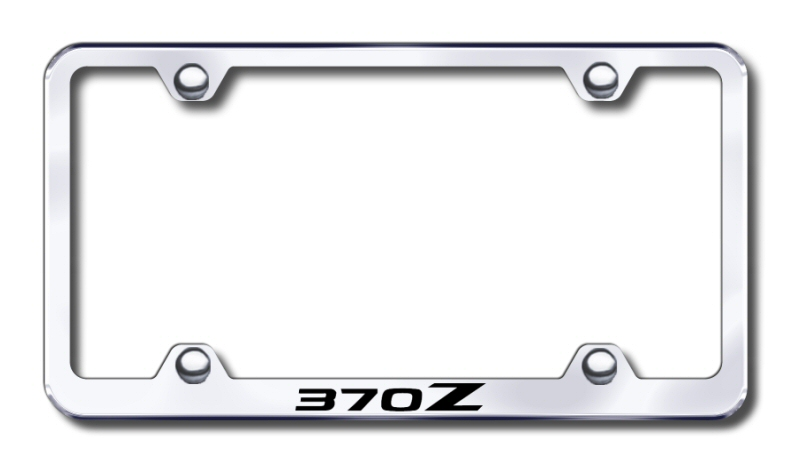 Nissan 370Z Laser Etched Stainless Steel Wide License Plate Frame