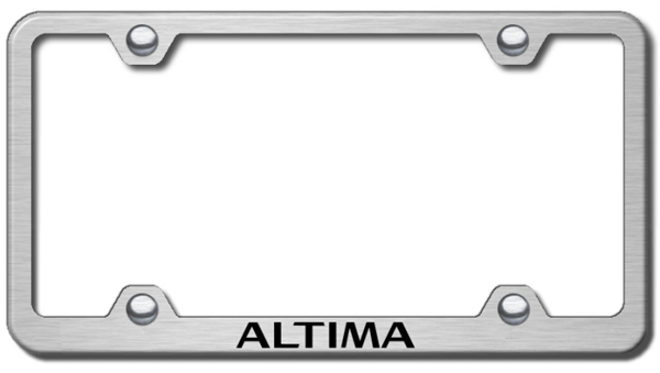 Nissan Altima Laser Etched Stainless Steel Wide License Plate Frame