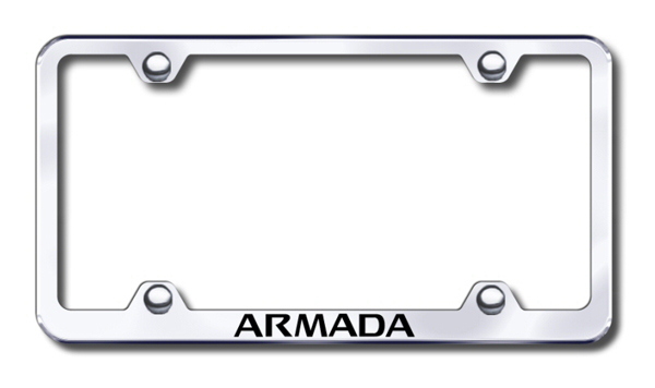 Nissan Armada Laser Etched Stainless Steel Wide License Plate Frame