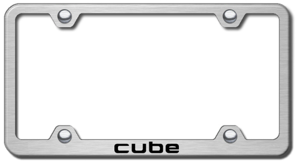 Nissan Cube Laser Etched Wide Stainless Steel License Plate Frame