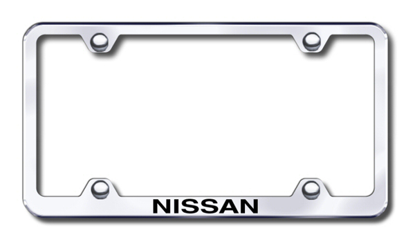 Nissan Laser Etched Stainless Steel Wide License Plate Frame