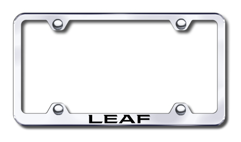 nissan leaf laser etched stainless steel wide license plate frame