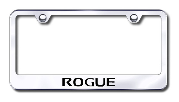 nissan rogue laser etched stainless steel license plate frame