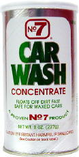 No. 7 Car Wash Concentrated Powder 8 oz.